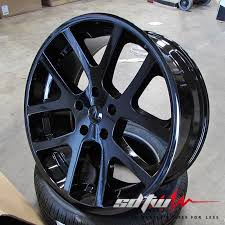 dodge ram 1500 wheels and tires 24 viper style black wheels tires fits dodge ram 1500 2wd 4wd