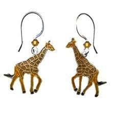 giraffe earrings giraffe jewelry giraffe accessories necklace pin