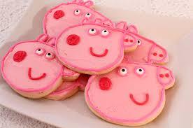peppa pig frosted sugar cookies sisters crafting