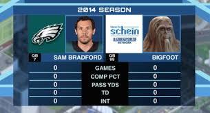 Sam Bradford Memes - sam bradford s mythical stats with the eagles nfffffffluuuuuuuuuuuu