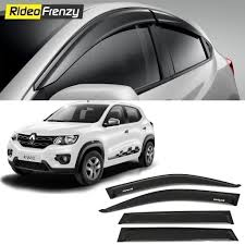 renault kwid buy unbreakable renault kwid door visors in abs plastic at low