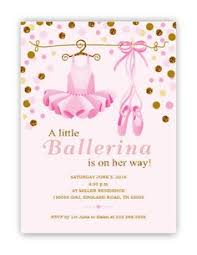 baby shower in pink tutu baby shower invitation glitter and gold ballerina pink