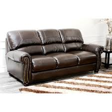 Leather Sofa And Armchair Abbyson Living Ci N350 Brn 3 1 Monaco Italian Leather Sofa And