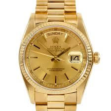 golden rolex rolex day date presidential 18k yellow gold c 1970 u0027s 1980 u0027s