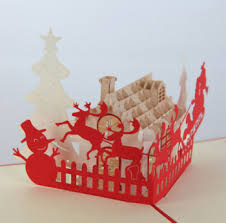 custom 3d pop up christmas greeting card for kids buy cards