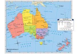 Map Australia Map Of Australia And New Zealand London Map