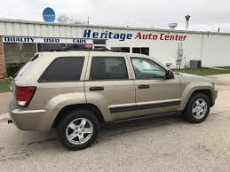 green jeep grand cherokee 2006 jeep grand cherokee laredo 4dr suv 4wd heritage auto center