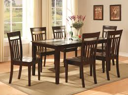Dinette Kitchen Dining Room Set Table With  Chairs In Cappuccino - Kitchen and dining room furniture