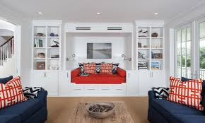 Beautiful Living Rooms With Blue Red And White Accents Home - Red and blue living room decor