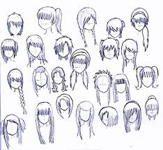 anime hairstyles drawings anime long hairstyles