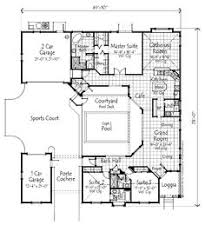 home plans with courtyards plan 72108da wrap around central courtyard with large pool
