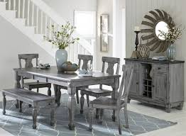 gray dining set fortunat counter height extendable dining table