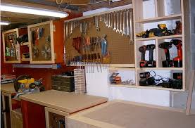 garage ideas plans garage workbench from cabinet plans home interiors