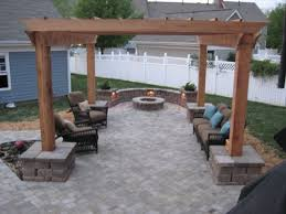 Flagstone Patio With Pergola Outdoor Living Spaces Patio Builder Charlotte Nc Rock Hill