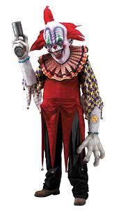 clown costumes giggles killer clown costume creature reacher size in unisex