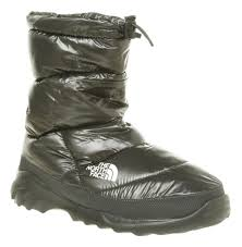 mens the north face nuptse iii shiny black durable outdoor boots