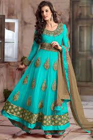 Color Image Online by Sky Blue Color Designer Anarkali Suit 4105e 82 Fresh Fashion