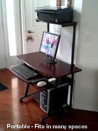 Compact Computer Desk S40 40 Computer Desk With Tower Printer Shelf Space Efficient