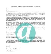 resignation letter by employee employer acceptance anyhows