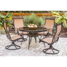 monaco dining table monaco 5 piece dining set with swivel sling chairs and glass top