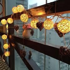 rattan ball fairy lights 20 led warm white rattan ball string fairy lights for christmas xmas