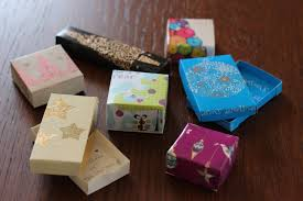 diy gift boxes from recycled cards olive on