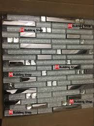 Mosaic Tile For Backsplash by Metal Diamond Glass Tiles For Kitchen Backsplash Silver Stainless