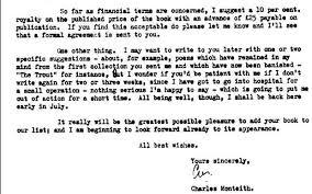 from faber u0026 faber u0027s archive seamus heaney u0027s acceptance letter