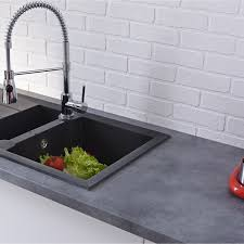 plan de travail cuisine effet beton plan de travail stratifié béton mat l 247 x p 63 cm ep 38 mm