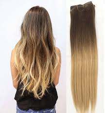 Pre Bonded Human Hair Extensions Uk by Ombre Hair Extensions Clip In Hair Pieces Ebay