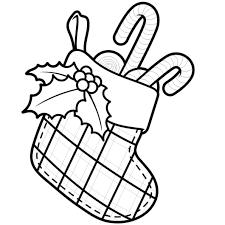 Coloriage Botte de Noël en Ligne Gratuit à imprimer
