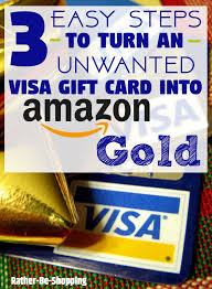 How To Turn Walmart Gift Card Into Cash - to turn an unwanted visa gift card into amazon gold