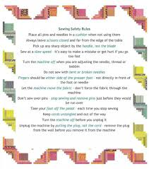 sewing safety rules for young sewers sewing for me pinterest