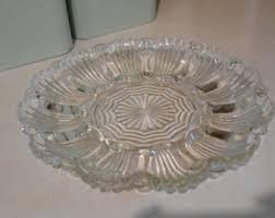 glass deviled egg plate deviled egg plate etsy