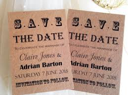 save the date wording ideas kraft card vintage save the date cards 80p each uk wedding