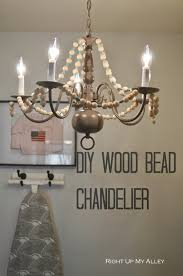 Diy Large Chandelier Right Up My Alley Diy Wood Bead Chandelier Module 5 Iron
