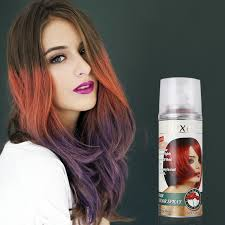 138ml wine red color dexe hair color spray temporary hair dye