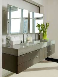 Modern Bathroom Vanities by Combination Of Modern And Vintage Style In Floating Bathroom