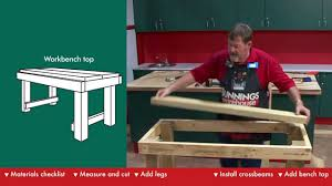 Woodworking Workbench Top Material by How To Build A Workbench Diy At Bunnings Youtube