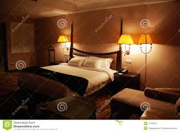 luxury bedroom at night stock photography image 12787922