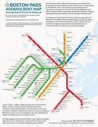 average boston apartment rent prices by t stop boston pads
