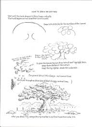 White Oak Tree Drawing How To Draw Worksheets For The Young Artist How To Draw An Oak
