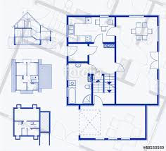 floor plan blueprint floor plan blueprint vector illustration stock image and royalty