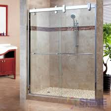Shower Doors Reviews Furniture Idea Tempting Frameless Sliding Shower Doors