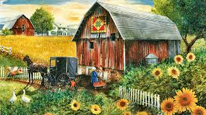 Fowers Farms Country Paradise Art Horse Artwork Wide Screen Equine