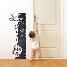 chalkboard giraffe nursery wall decal removable animal wall
