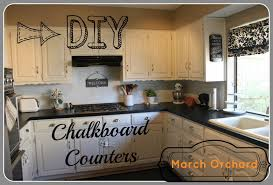 Paint For Kitchen Countertops March Orchard Chalkboard Countertops