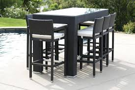 outdoor bar height table and chairs set outdoor bar height table large size of dinning room table and chairs