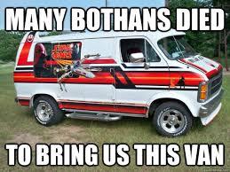 Many Bothans Died Meme - many bothans died to bring us this van star wars rape van