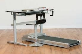 modern sit to stand desk treadmill with plastic swivel chair with